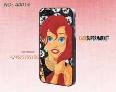 Phone Cases, iPhone 5/5S Case,  iPhone 5C Case, iPhone 4/4S Case, Phone covers, The little mermaid, ariel, Skins, Case for iPhone-A0014 on Etsy, $8.99
