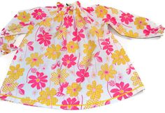 Girls blouse tunic  peasant style top 100 by amytopstitching, $25.00
