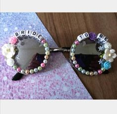 #bride #sunglasses #bridetobe #HenParty #BachelorettePartyIdea #giftforbride Festival Sunglasses, Bride, Trending Outfits, Unique Jewelry, Handmade Gifts, Vintage, Etsy, Design, Wedding Bride