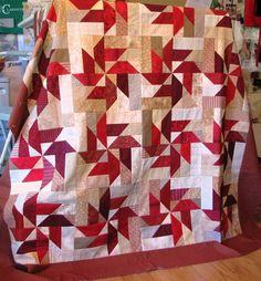 --Red Pinwheels--Pattern in book Scrap Basket Surprises