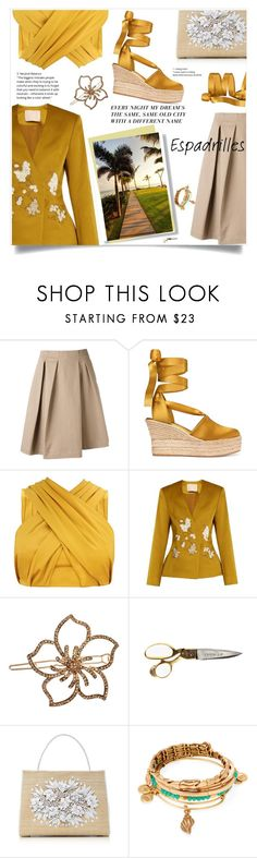 """""""Step into Summer: Espadrilles"""" by violet-peach ❤ liked on Polyvore featuring Jil Sander, Tory Burch, Brock Collection, L. Erickson, Nancy Gonzalez, Alex and Ani and espadrilles"""