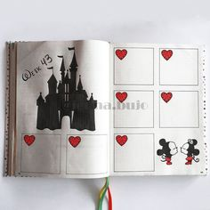 bullet journal octobre Take your bujo to new heights with these 26 enchanting Disney bullet journal spreads to spark your imagination! Bullet Journal Disney, February Bullet Journal, Bullet Journal Cover Page, Bullet Journal School, Bullet Journal Themes, Bullet Journal Layout, Bullet Journal Vacation, Bullet Journal Spreads, Bullet Journal Notebook