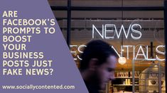 Facebook's Fake News Heard about 'fake news' and the trouble Facebook and other social media platforms have been getting into for publishing it? Due to all that trouble, they are, quite rightly, taking steps to make it harder for 'fake news' to be published. However, there's a different kind of wha