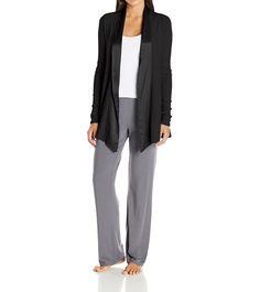 Pj Harlow Women'S Shelby Satin Trimmed Robe With Pockets - Pjj01