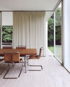 The Farnsworth House was designed and constructed by Ludwig Mies van der Rohe between 1945 and 1951