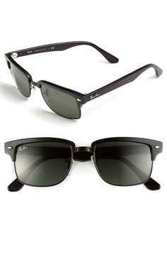 $150, Clubmaster Square 52mm Sunglasses Green One Size by Ray-Ban. Sold by Nordstrom. Click for more info: http://lookastic.com/women/shop_items/45316/redirect