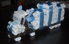 leuk voor geboorte jongen Baby Shower Invitations For Boys, Baby Shower Favors, Baby Shower Cakes, Baby Shower Themes, Baby Shower Gifts, Diy Diaper Cake, Nappy Cakes, Little Presents, Baby Presents