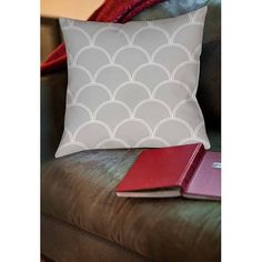 Thumbprintz Art Deco Circles Grey and white Indoor Pillow