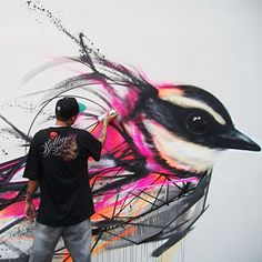 mesmerizing graffiti birds - Brazil