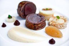 Cucina e Passione | Hirschrücken, Speck, Birne, Sellerie