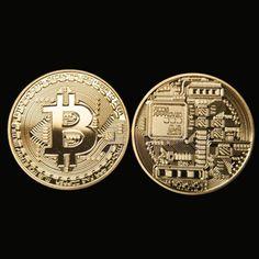 1x Gold Plated Bitcoin Coin Collectible BTC Coin Art Collection Gift
