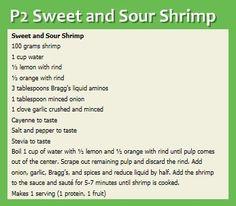 P2 Sweet and Sour Shrimp - hCG - Omntitrition - Omni - P2 Phase Recipe