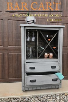 Amazing Great Home Projects and What They Cost?Repurposed dresserBefore and after repurposed dresser into a coffee bar. 🍻 ☕️A Lovely Dresser Turned Coffee Server coffeeserver Dresser Before:Artsy Chicks .A Lovely Dresser Turned Coffee Refurbished Furniture, Bar Furniture, Repurposed Furniture, Furniture Projects, Furniture Makeover, Dresser Repurposed, Industrial Furniture, Furniture Movers, Kitchen Furniture