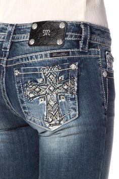 Miss Me Ethnic Cross Bermuda Jean Shorts