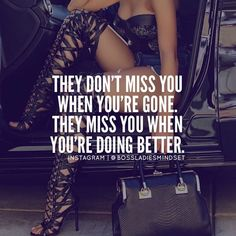 Moving On Quotes : QUOTATION – Image : Description When they see you're doing better without them, that's when they want you back Boss Babe Quotes, Bitch Quotes, Me Quotes, Real Man Quotes, Diva Quotes, Want You Back, Savage Quotes, Quotes About Moving On, Queen Quotes