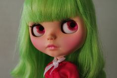 "OOAK custom Takara Blythe doll ""Kiwi"" by Chantilly Lace/Moofala"