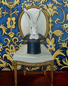 Magic Hat II, painting by artist Catherine Nolin