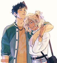 Credit to Viria One of the best Percabeth fanart 💗💗 Percy Jackson Fan Art, Percy Jackson Fandom, Percy Jackson Ships, Percy Jackson Memes, Percabeth, Solangelo, Viria, Percy Y Annabeth, The Kane Chronicles