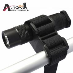 Outdoor Sports Nylon Flashlight Bracket Rail Release Quick Clip Mount Attachable
