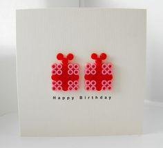 Perler bead birthday card