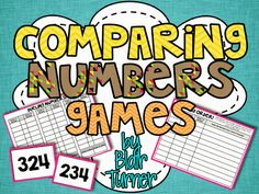 Here's a fun game for comparing numbers. Includes number cards, game boards, and recording sheets.