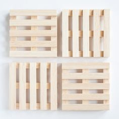 Decorate your summer table with these easy to make pallet coasters. - Use Popsicle sticks