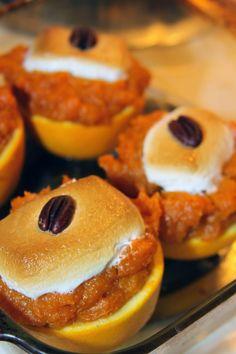 Holiday Sweet Potato Stuffed Orange Cups #sidedishes