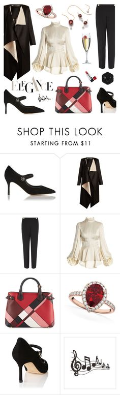 """""""Peplum Elegance"""" by andreamilles ❤ liked on Polyvore featuring Swissco, Dolce&Gabbana, L.K.Bennett, Roland Mouret, Andrew Gn, Burberry and Allurez"""