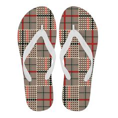 Awesome Tartan Plaid Men's Flip Flops – This is iT Original Womens Flip Flops, Tartan Plaid, Slip On, Lovers, Canvas Prints, Awesome, Fashion, Manish, Block Prints