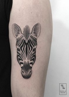 Marla Moon zebra tattoo