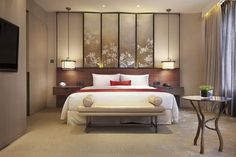 The interior of Twelve at Hengshan, a hotel set in the heart of bustling Shanghai, features bespoke furniture blurs the line between East and West and past and present. Interior Exterior, Room Interior, Interior Design, Home Bedroom, Bedroom Decor, Master Bedroom, Luxury Collection Hotels, Luxury Hotels, Hotel Interiors
