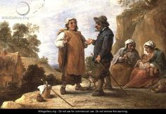 """""""The Fortune Teller 2"""" by David The Younger Teniers"""