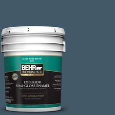 BEHR Premium Plus 5-gal. #S480-7 Midnight in the Tropics Semi-Gloss Enamel Exterior Paint