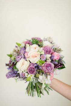 Purple & Pink Spring Bridal Bouquet McNally Photography on @CVBrides via @aislesociety