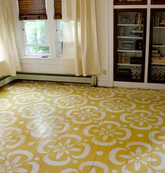 Yellow Painted Floor with Stencil copy