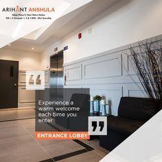 Arihant Anshula - Taloja Phase II 1, 2 & 3 BHK Mini Township  Entrance Lobby  www.asl.net.in/arihant-anshula.html  #ArihantAnshula #RealEstate #Taloja #NaviMumbai #Property #LuxuryHomes