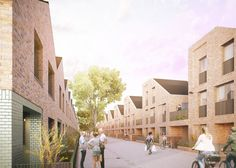 Street life proposal for Academy Street a small terrace in Enfield. Architecture Design, Architecture Student, Architecture Drawings, Residential Architecture, Brick Construction, Small Terrace, Brick Facade, Social Housing, London House