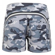 MID-LENGTH CAMOUFLAGE PRINT SWIM SHORTS - Low rise camouflage print boardshorts with the three classic rainbow bands on the back, fixed waist with adjustable drawstring and Velcro fly, internal mesh, a Velcro back pocket, Sundek logo on the back. #sundek #beachwear #beach #sales #mrbeachwear #boardshort #men #summer #sun  #fashion #springsummer2014 #summer2014 #camouflage