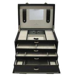 Windrose Schmuck-Uhrenkoffer Vision 30,5 cm schwarz