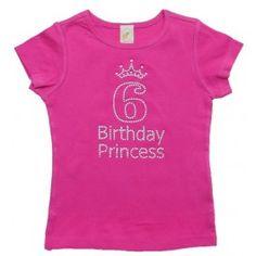 Tenth birthday princess rhinestones T shirt Plain Shirts, Shirts For Girls, Tee Shirts, Tees, Girls 9th Birthday, Princess Birthday, Birthday Ideas, Special Girl, Personalized Shirts
