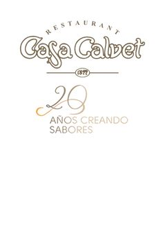 Logotipo 20 aniversario del Restaurante Casa Calvet. 2014 Antoni Gaudi, Place Cards, Barcelona, Place Card Holders, Branding, Logo, Point Of Sale, Brand Management, Barcelona Spain