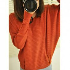 $6.45 Casual Scoop Neck Batwing Sleeve Solid Color Sweater For Women