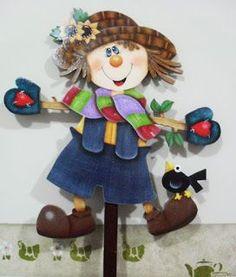 Eliane Artesanato: Espeto para  jardim