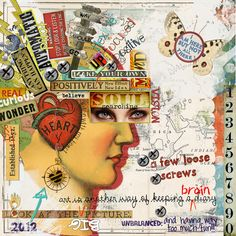 "Mind map? Wonderful idea for art journal page about what is going on now ""in my head"""
