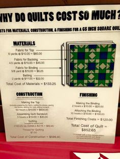 Image result for why do quilts cost so much