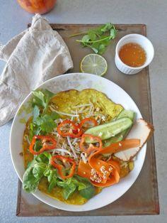 Inspiration crêpe vietnamiene et ses légumes croquants ...pour un repas complet et végé  ( Vegan, Sans gluten )