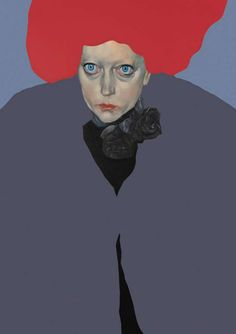 Portrait by Francesco Merletti (b.1966, live in Milano), 2008, First Lady/ Donne Pesanti, oil and enamel on canvas. iL