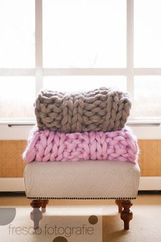 Super Chunky and Rich Knitted Blanket - Super Heavy and Comfortable. $300,00, via Etsy.