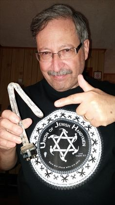 A member of the Union of Jewish Handymen proving his worth!