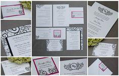 wedding invitation - maybe with aqua & silver?